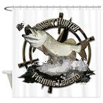 Fishing legend Shower Curtain