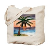 Palm Tree Sunset Art Tote Bag