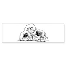 3 Pekingese Puppies Bumper Bumper Sticker