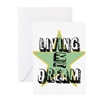 OYOOS Living My Dream design Greeting Cards (Pk of