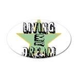 OYOOS Living My Dream design 22x14 Oval Wall Peel