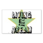 OYOOS Living My Dream design Sticker (Rectangle 50