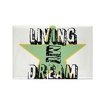 OYOOS Living My Dream design Rectangle Magnet (10