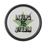 OYOOS Living My Dream design Large Wall Clock