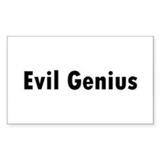 Evil Genius Rectangle Decal