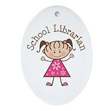 School Librarian Ornament (Oval)