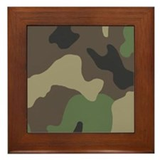 Camouflage Framed Tile