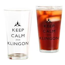Keep Calm and Klingon Drinking Glass