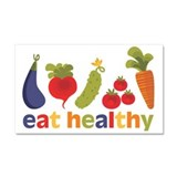 Eat Healthy Car Magnet 20 x 12