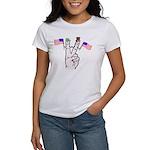 Happy Peace Fingers Women's T-Shirt