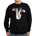 Happy Peace Fingers Sweatshirt (dark)