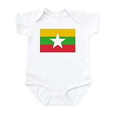 Myanmar Flag Infant Bodysuit