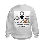 Big Brother of Twins - Stick Characters Kids Sweat