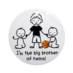 Big Brother of Twins - Stick Characters Ornament (