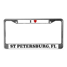 I Love St Petersburg License Plate Frame