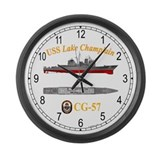 USS Lake Champlain CG-57 Large Wall Clock