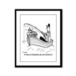 Cat's 9 Life Preservers Framed Panel Print