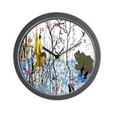 Winter Warrior and Bear Wall Clock