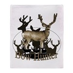 Bow hunter 4 Throw Blanket