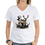 Bow hunter 4 Women's V-Neck T-Shirt