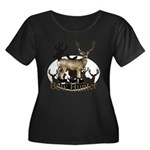 Bow hunter 4 Women's Plus Size Scoop Neck Dark T-S
