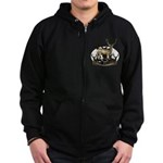 Bow hunter 4 Zip Hoodie (dark)
