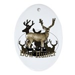 Bow hunter 4 Ornament (Oval)
