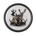 Bow hunter 4 Large Wall Clock