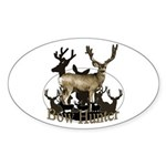 Bow hunter 4 Sticker (Oval 50 pk)