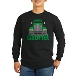 Trucker Gabriel Long Sleeve Dark T-Shirt
