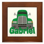Trucker Gabriel Framed Tile