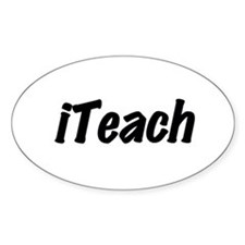 I Teach Oval Decal