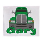 Trucker Gary Throw Blanket