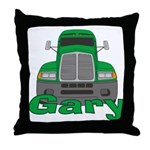 Trucker Gary Throw Pillow