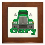 Trucker Gary Framed Tile