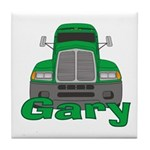 Trucker Gary Tile Coaster