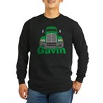 Trucker Gavin Long Sleeve Dark T-Shirt