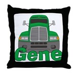 Trucker Gene Throw Pillow