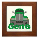 Trucker Gene Framed Tile
