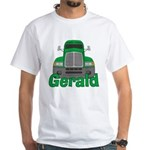 Trucker Gerald White T-Shirt