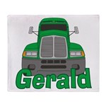 Trucker Gerald Throw Blanket