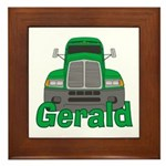 Trucker Gerald Framed Tile