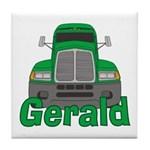 Trucker Gerald Tile Coaster