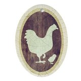 Hen And Chick Ornament (Oval)