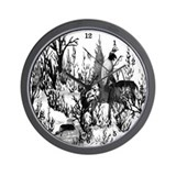 Native American Winter Warrior Wall Clock