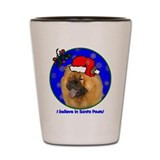SANTA PAWS Chow Chow Shot Glass