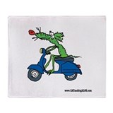Ducati/Vespa Throw Blanket by Tamara Warren