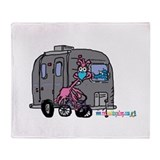 Airstream Goose 2-sided blanket By Tamara Warren