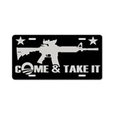Come &amp; Take It - Obama Aluminum License Plate