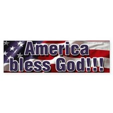 America Bless God Bumper Sticker
